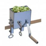 Máquina inoxidable de rajar aceitunas con soporte Flores Cortés