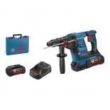 Martillo perforador a batería Bosch GBH 36V-LI Plus Professional en maletín con 2 baterías