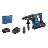 Martillo perforador a batería Bosch GBH 36VF-LI Plus Professional en maletín con 2 baterías