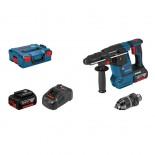 Martillo perforador a batería Bosch GBH 18V-26 F Professional en L-BOXX con 2 baterías y portabrocas
