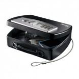 Minicaja seguridad portátil con combinación electrónica y llave Masterlock P008EML