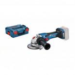 Bosch GWS 18V-15 C Professional + L-BOXX - Miniamoladora a batería BITURBO de 125mm