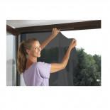 Mosquitera ventana 1 pieza negra con velcro de 130x150cm
