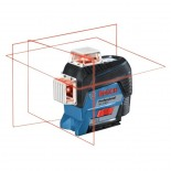 Nivel láser autonivelante de líneas rojas Bosch GLL 3-80 C + BM 1 Professional
