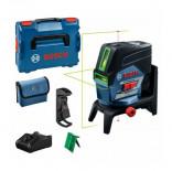 Nivel láser combinado líneas verdes Bosch GCL 2-50 CG + RM2 + BM 3 Clip + Batería 12V