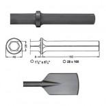 Pala ancha para martillos neumáticos inserción Hexagonal 28x160 de 440mm