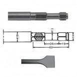 Pala corta para martillo neumático inserción Hexagonal IMCO MULTI 261 de 40x260mm