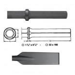 Pala larga para martillos neumáticos inserción Hexagonal 32x160 de 80x520mm