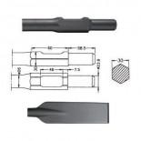 Pala larga inserción HITACHI H65 SB (Hexagonal 30mm) de 80x480mm