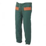 Pantalón con protección anticorte para motosierra verde/naranja para leñador