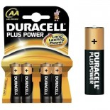 Pilas alcalinas DURACELL PLUS POWER - AA (Blister 4 unidades)