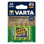 Pilas recargable VARTA ACCU ENDLESS - AA (Blister 4 unidades)