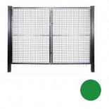 Puerta mallazo verde de 2 hojas - 1'50 x 3'00 metros