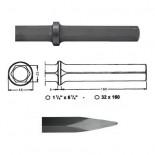 Puntero para martillos neumáticos inserción Hexagonal 32x160 de 550mm