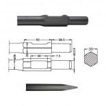Puntero redondo inserción HITACHI H65 SB (Hexagonal 30mm) de 410mm