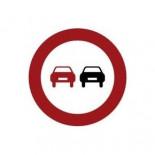 Señal de tráfico adelantamiento prohibido