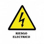 Señal adhesiva de 11x15cm - Riesgo eléctrico
