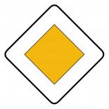 Señal de tráfico calzada con prioridad Homologada 60x60cm