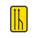 Señal de obras reducción carril por la derecha (3 a 2) - 40x60cm Homologada Reflex 1