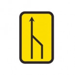 Señal de obras reducción carril por la derecha (2 a 1) - 40x60cm Homologada Reflex 1