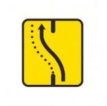 Señal de obras desvío carril por la calzada opuesta - 60x60cm Homologada Reflex 1