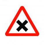 Señal de tráfico peligro intersección con prioridad de la derecha Homologada 70cm