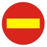 Señal de obra dirección prohibida