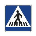 Señal de tráfico paso de peatones Homologada 40X40cm