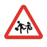 Señal de tráfico peligro niños
