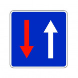 Señal de tráfico prioridad respecto al sentido contrario