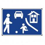 Señal de tráfico de calle residencial Homologada 40X60cm