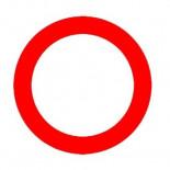 Señal de tráfico circulación prohibida Homologada 60cm