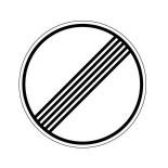 Señal de tráfico fin de prohibiciones Homologada 60cm Reflex 1