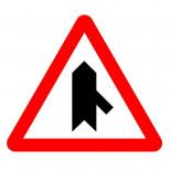Señal de tráfico peligro intersección con prioridad incorporación derecha Homologada 70cm