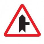 Señal de tráfico peligro intersección derecha con prioridad Homologada 70cm