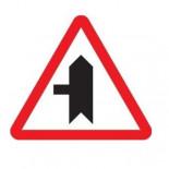 Señal de tráfico peligro intersección izquierda con prioridad Homologada 70cm