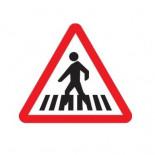 Señal de tráfico peligro paso de peatones