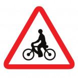 Señal de tráfico peligro ciclistas Homologada 70cm