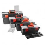 Set de 4 cajas de herramientas con compartimentos