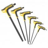 Llaves hexagonales Fatmax Stanley mango en T - Set 6 unidades de 3 a 8 mm