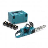 Sierra de cadena Makita DUC353PT4J 18Vx2 LXT BL 35cm + Kit 4 baterías 5.0Ah