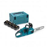 Sierra de cadena Makita DUC355PT4J 18Vx2 LXT BL 35cm + Kit 4 baterías 5.0Ah