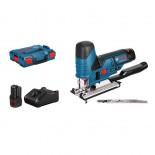 Sierra de calar a batería Bosch GST 12V-70 Professional en L-BOXX con 2 baterías