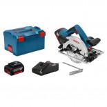 Bosch GKS 18V-57 G Professional + 2 baterías 4Ah en L-BOXX - Sierra circular a batería