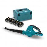 Soplador a batería Makita DUB361PT4J 18Vx2 Litio LXT + 4 baterías 5.0Ah