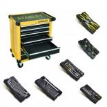 Taller móvil metálico Stanley con 6 módulos incluidos - 7 cajones