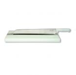 Tabla con cuchillo corta bacalao Flores Cortés D.Benito - 500x300x35mm