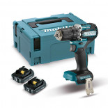 Makita DDF487RAJ con 2 baterías 2Ah - Taladro atornillador BL 18V LXT 40Nm