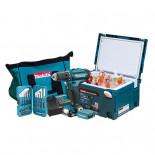 Taladro atornillador Makita DF331DSAX6 10.8V + 2 baterías 2Ah + Estuche + Nevera Makpac