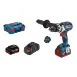 Taladro percutor a batería Bosch GSB 18V-85 C Professional en L-BOXX con 2 baterías
